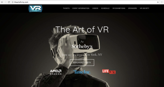 Sotheby's The Art of VR New York in collaboration with VR Society Hollywood